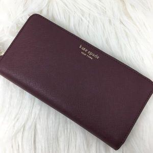 Kate Spade Large zip Continental Wallet Cameron